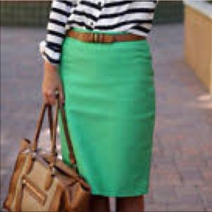 $bogo$ J crew green no 2 pencil skirt size 12